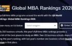 最强参考!2020QS全球MBA排名来了
