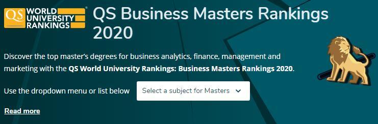 2020年QS全球商科硕士排名出炉!全球TOP10中会有哪些英国院校身影?