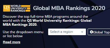 2020年QS全球MBA排名公布!英国十校进百强,剑桥跃居全英第二