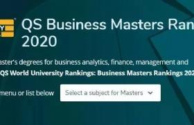 2020QS全球MBA和商科硕士排名,NUS、NTU上榜亚洲TOP10!