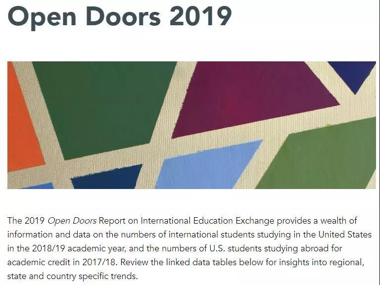 《2019美国门户开放报告》发布,中国仍是最大生源国!贡献150亿