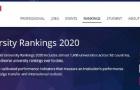 2020泰晤士世界大学排名,东京大学排名亚洲top5!