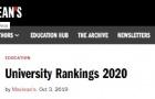 2020年麦考林Maclean's加拿大权威大学排名!