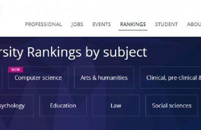 2020泰晤士世界大学学科排名榜发布!新加坡国大多专业排名居亚洲大学之首!
