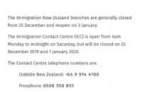 注意啦!新西兰移民局办公室+八所大学圣诞假期放假时间通知!