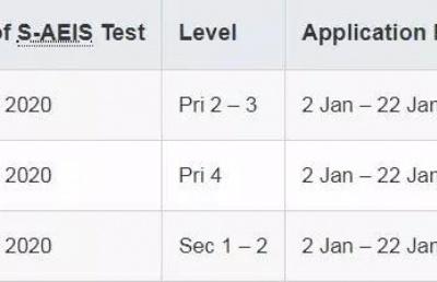 2020年新加坡S-AEIS考试报名开始了!低龄留学新加坡,你的选择还有~