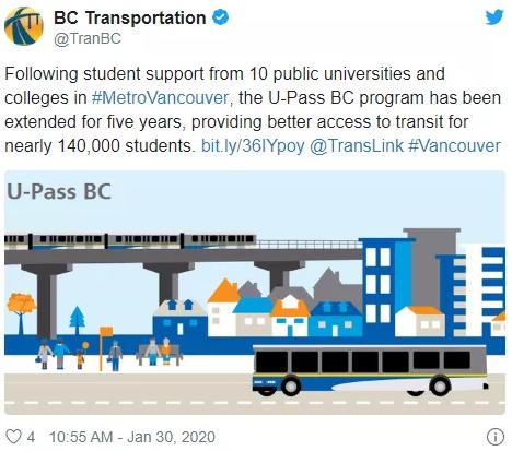 BC省学生们的U-Pass计划保住了!但是月费涨价是避免不了的…