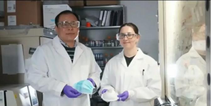 阿尔伯塔大学华裔科学家发明超级口罩!新冠病毒相似病毒半小时消灭!