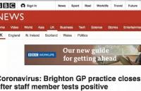 """新型冠状病毒""""超级传播者""""?英国布莱顿多名医护人员感染"""