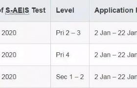2020年新加坡S-AEIS考试将开考,2类考生将无法如期参加考试!