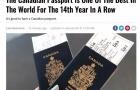 福利太好?加拿大护照连续14年被评为世界最强!