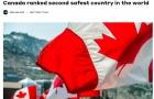 厉害了!世界最安全国家榜单,加拿大排名第2!