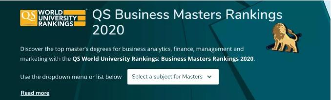 【加拿大篇】2020年QS全球MBA和商科硕士排名发布!