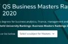 2020年QS全球MBA和商科硕士排名发布!商科最强择校标准来了!