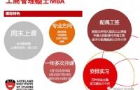 新西兰留学:奥克兰商学院-MBA课程信息介绍