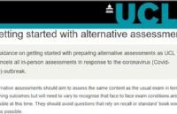 疫情当前,UCL为大一新生出台特别的考核方式!