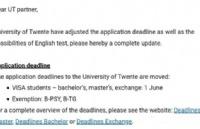 特文特大学特大利好消息----接受duolingo成绩&申请截止日期延长