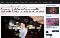 塔州州长发话:一视同仁!州政府拨款澳币3百万资助暂居签证持有者!