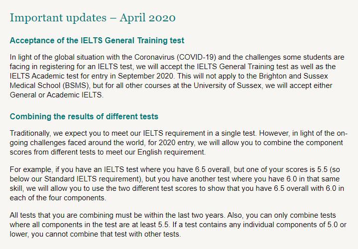 盘点接受雅思拼分、六级成绩、多邻国的各大英国院校!