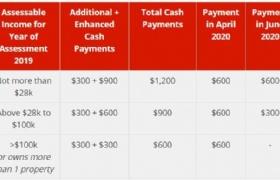 21岁及以上新加坡人在6月将获得不少于600新元的声援金