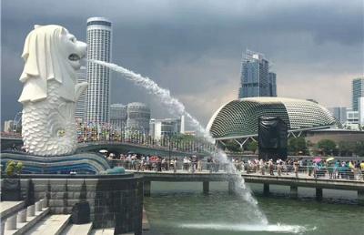 """近日,中国驻新加坡使馆举办中新 """"快捷通道""""签证首发仪式"""