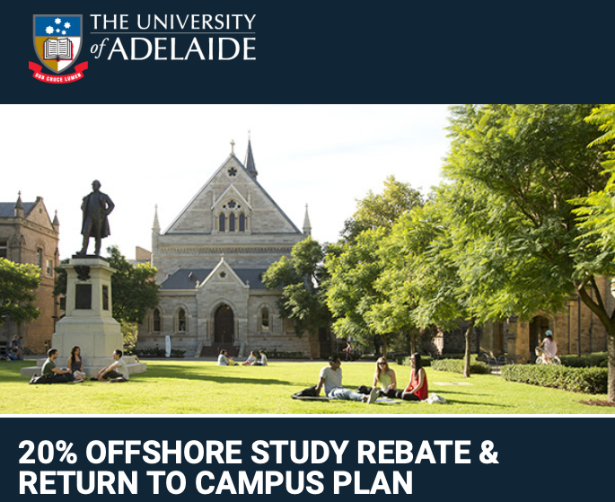 又一澳洲八大宣布学费打折!在境外上网课可减免20%学费!