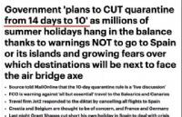英国政府宣布将入境隔离时间从14天缩短至10天!