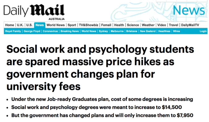 澳洲大学各专业学费又调整了!教育及护理专业学费几乎减半!