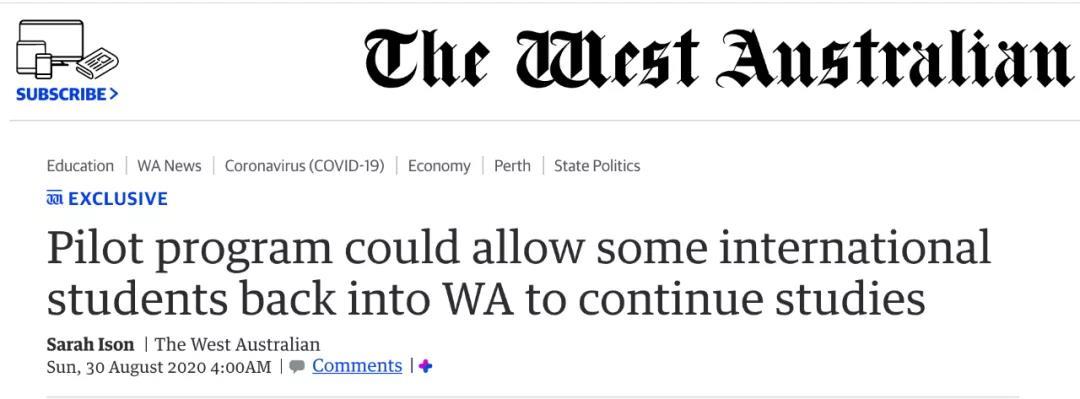 官宣!又一个州重启返澳计划!这些学生被优先考虑!
