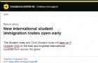 英国留学生的福音来了!英政府官宣10月5日实施新学生签证