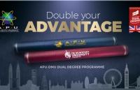 亚太科技大学APU-DMU双文凭学位,加倍您的优势!