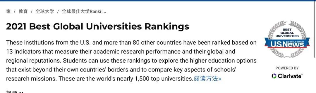 2021年USNews世界大学排名发布,韩国共有44所大学上榜!