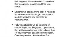 好消息不断!南澳留学生11月返澳计划也确定了!