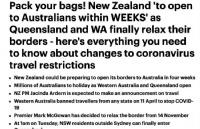 好消息!新西兰预计四周内对澳洲开放边境!