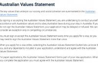 新规!办理澳洲签证需要签署价值观声明!