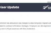 新西兰移民局圣诞大礼!8类工签及子女签自动延期6个月!工资要求暂不上涨!