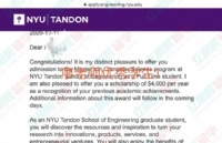 首战告捷!恭喜余同学拿到美国纽约大学计算机专业录取