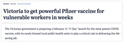 维州疫苗接种计划时间表曝光!下月中旬启动!