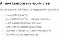 新西兰签证新政:2021年中期起,工签实施新政