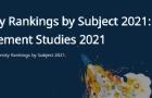 QS发布2021世界大学学科排名,格勒高商表现稳定!