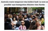 澳移民部长表态:尽快开国境接回留学生!
