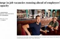 在澳洲,雇主招聘的速度赶不上空缺职位的增速!