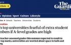 英国顶尖大学校长呼吁减少招生,这些英国大学决定缩减招生数