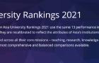 日本大学再次霸榜!2021THE亚洲大学排名发布!共116所入围!