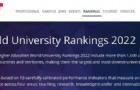 2022年泰晤士世界大学排名发布!东京大学取得史上最好名次!