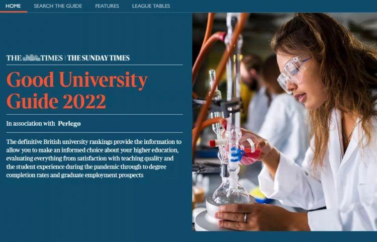 2022年TIMES英国大学排名发布,圣安拿下榜首,牛剑紧追其后!