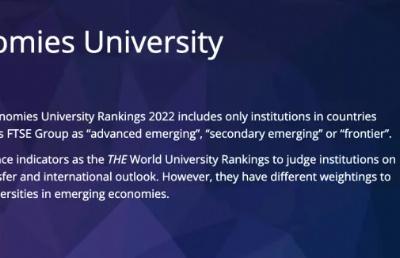 THE2022新兴经济体大学排名发布,马来亚大学进入TOP50!